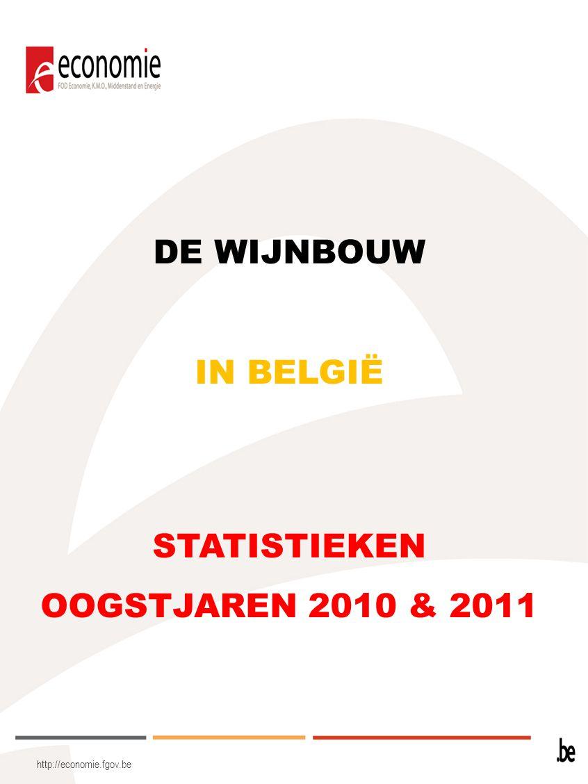 http://economie.fgov.be Wijnbouwers binnen de erkenningsprocedure: 48 wijnbouwers (30 Vlaamse en 18 Waalse) hebben erkenning aangevraagd voor de verschillende Beschermde Oorsprongsbenamingen of Beschermde Geografische Aanduidingen, als volgt: In totaal werden 60 wijnbouwers (42 Vlaamse en 18 Waalse), die in de mogelijkheid zijn om een erkenning voor de verschillende Beschermde Oorsprongsbenamingen (BOB) of Beschermde Geografische Aanduidingen (BGA) aan te vragen, geïnventariseerd.