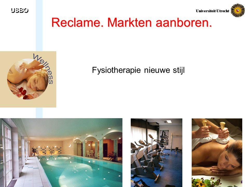 USBO Universiteit Utrecht Reclame. Markten aanboren. Fysiotherapie nieuwe stijl