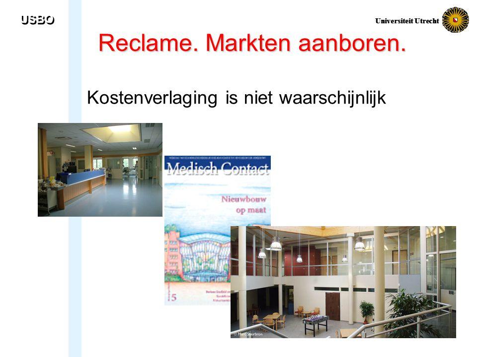 USBO Universiteit Utrecht Reclame. Markten aanboren. Kostenverlaging is niet waarschijnlijk