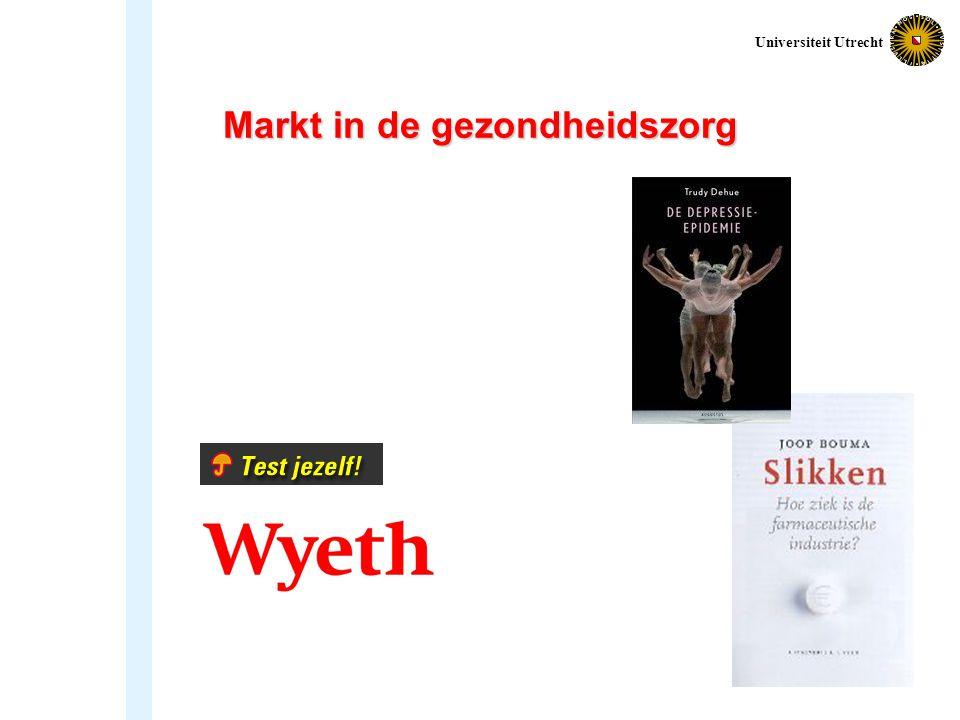 Markt in de gezondheidszorg Universiteit Utrecht