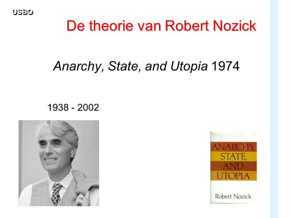 USBO De theorie van Robert Nozick Anarchy, State, and Utopia 1974 1938 - 2002