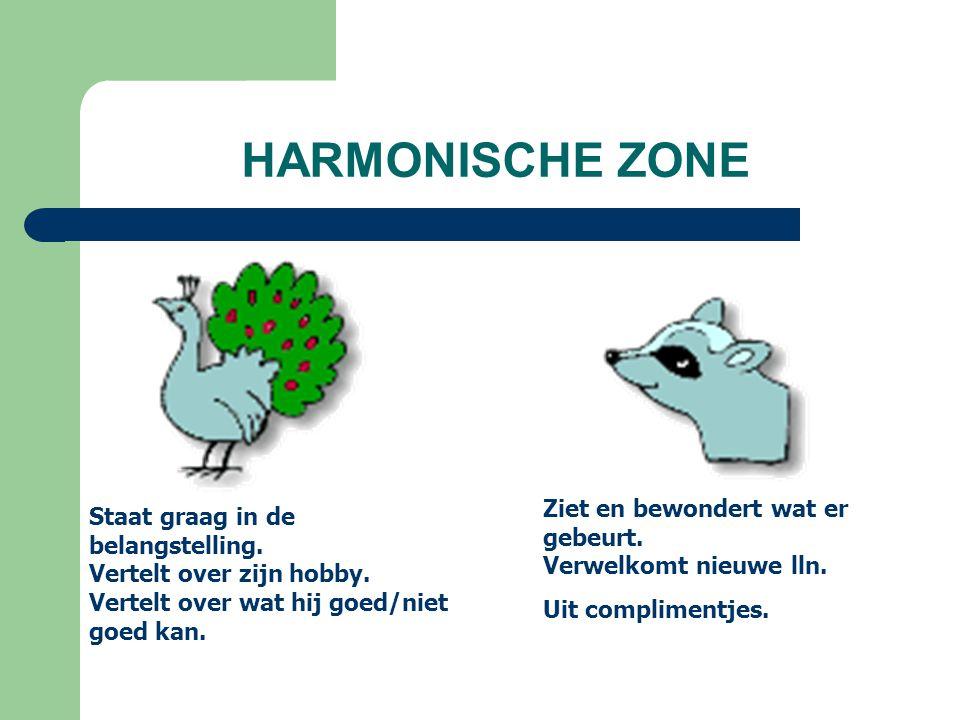 HARMONISCHE ZONE Staat graag in de belangstelling.