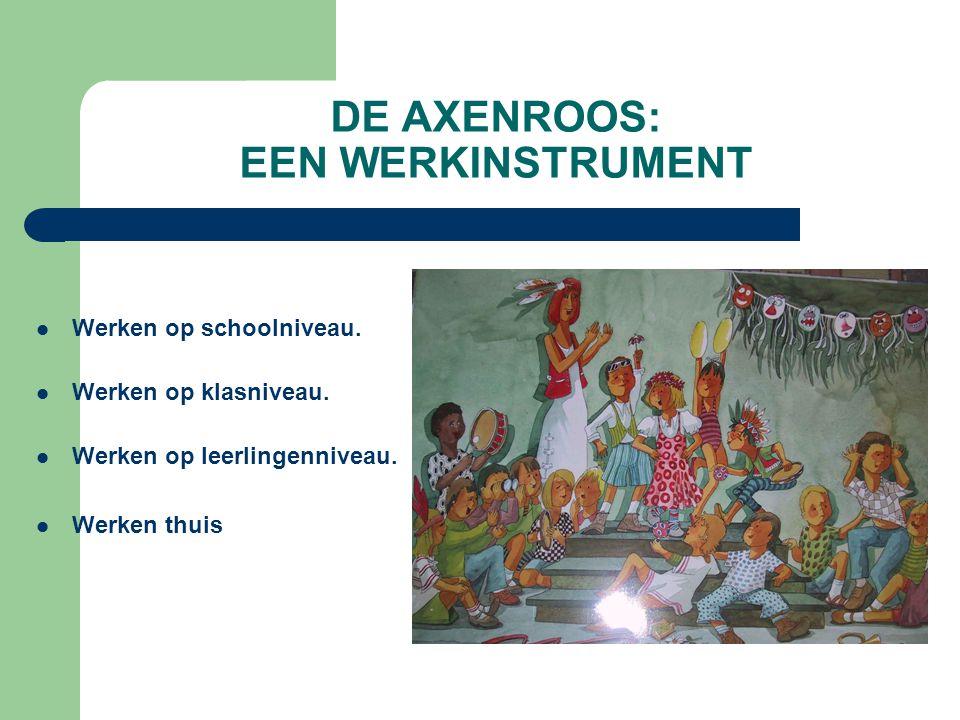 DE AXENROOS: EEN WERKINSTRUMENT Werken op schoolniveau.