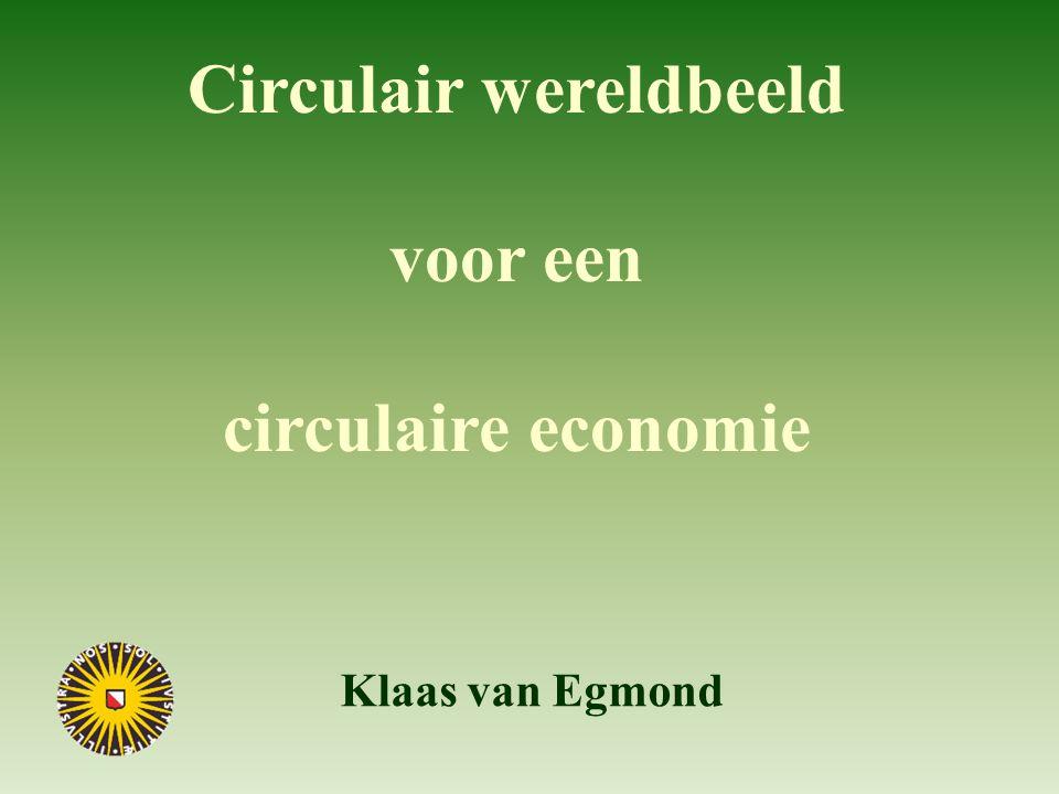 Circulair wereldbeeld voor een circulaire economie Klaas van Egmond