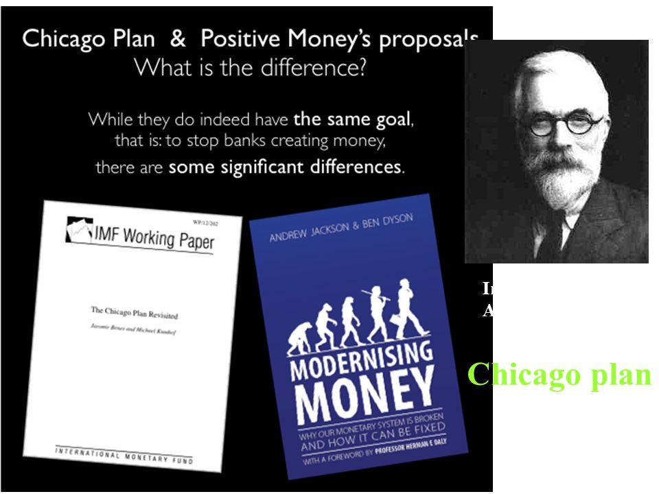 Irving Fisher, 1935, American economist Chicago plan