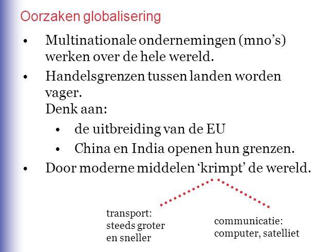 Multinationale ondernemingen (mno's) werken over de hele wereld.