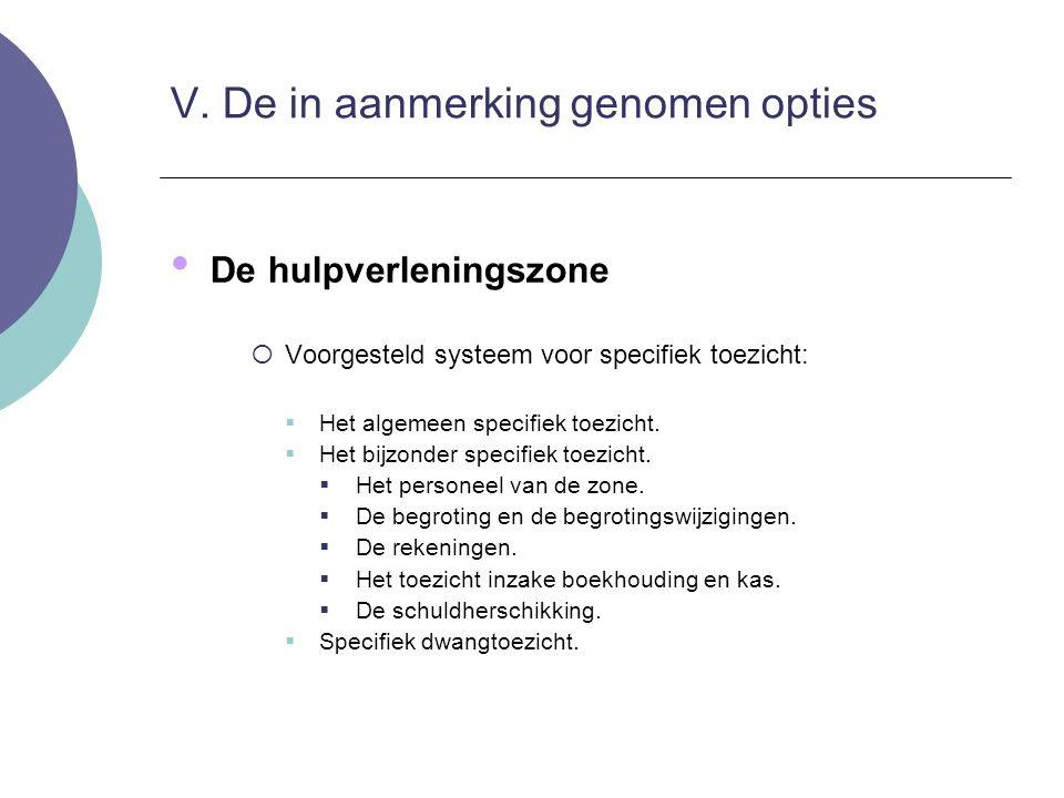 De hulpverleningszone  Voorgesteld systeem voor specifiek toezicht:  Het algemeen specifiek toezicht.  Het bijzonder specifiek toezicht.  Het pers