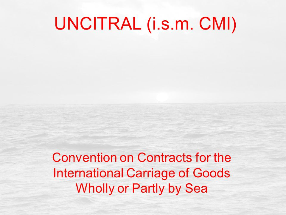 UNCITRAL (i.s.m.