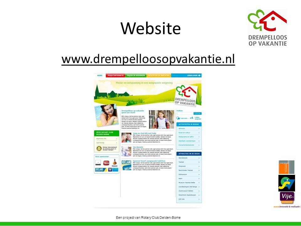 Website www.drempelloosopvakantie.nl Een project van Rotary Club Delden-Borne