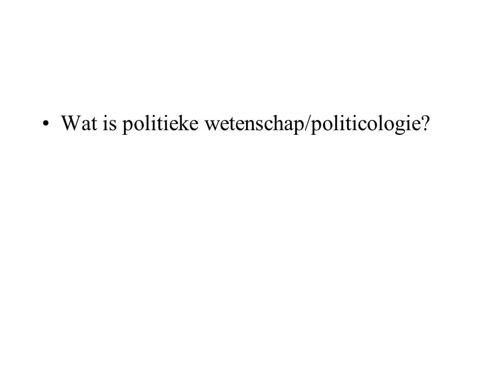 Wat is politieke wetenschap/politicologie?