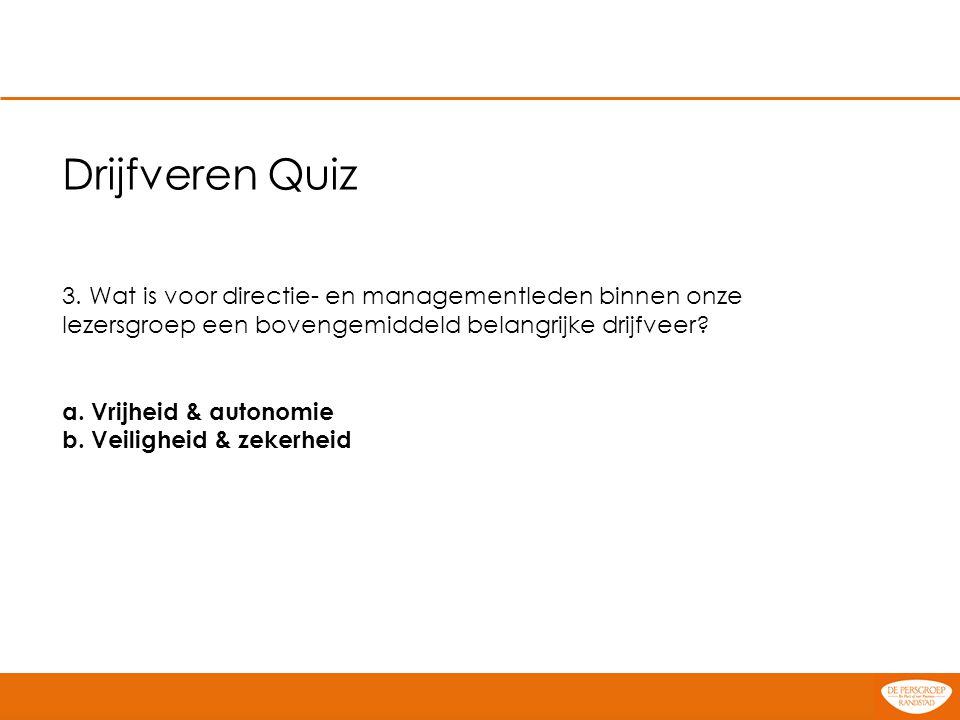 Drijfveren Quiz 4.