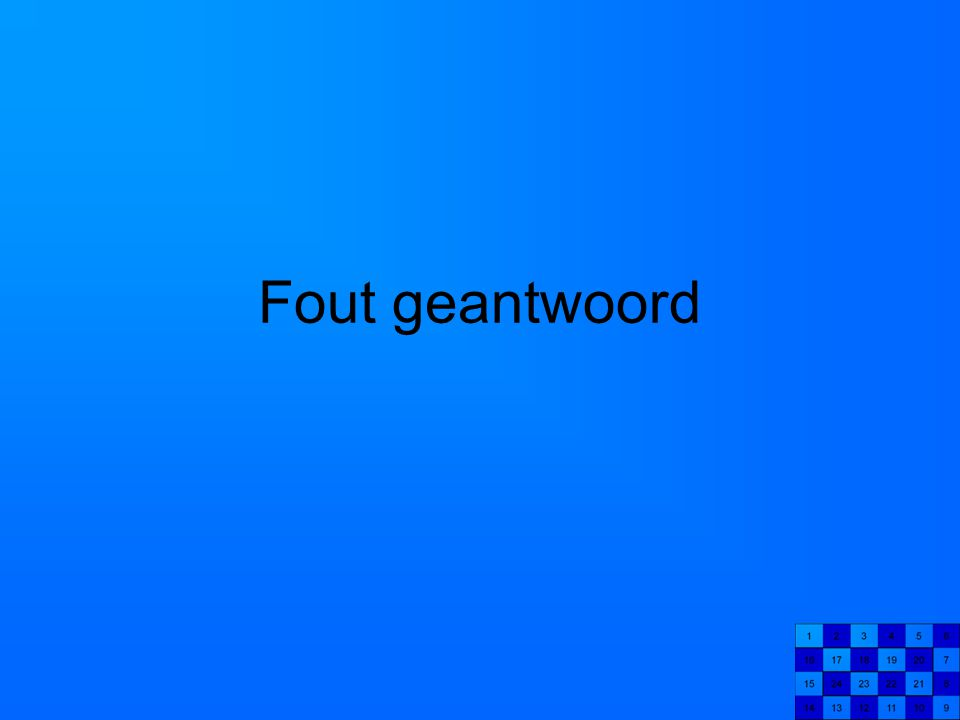 Fout geantwoord