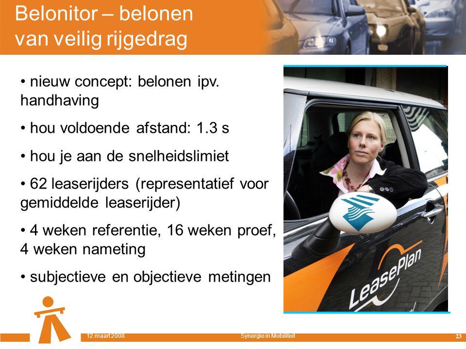 Belonitor – belonen van veilig rijgedrag nieuw concept: belonen ipv.