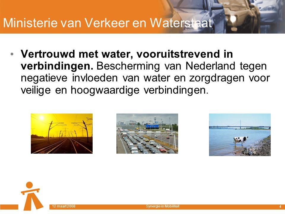 Ministerie van Verkeer en Waterstaat Vertrouwd met water, vooruitstrevend in verbindingen.