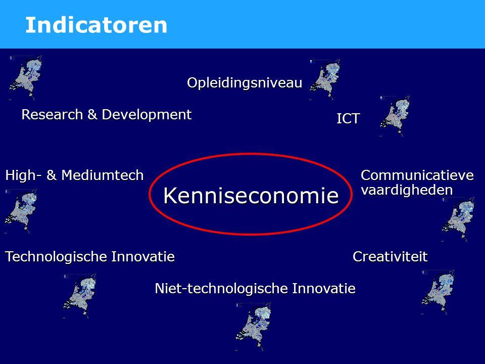 Factor 1 'Research & Development' Bron: Ruimtelijk Planbureau, 2005