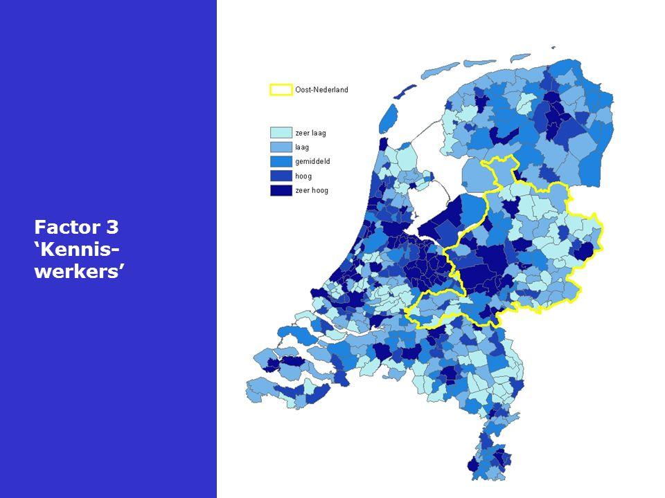 Resumé: Oost-Nederland en de kenniseconomie Score t.o.v.