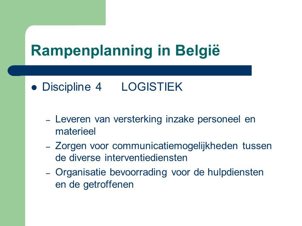 Rampenplanning in België Discipline 4LOGISTIEK – Leveren van versterking inzake personeel en materieel – Zorgen voor communicatiemogelijkheden tussen