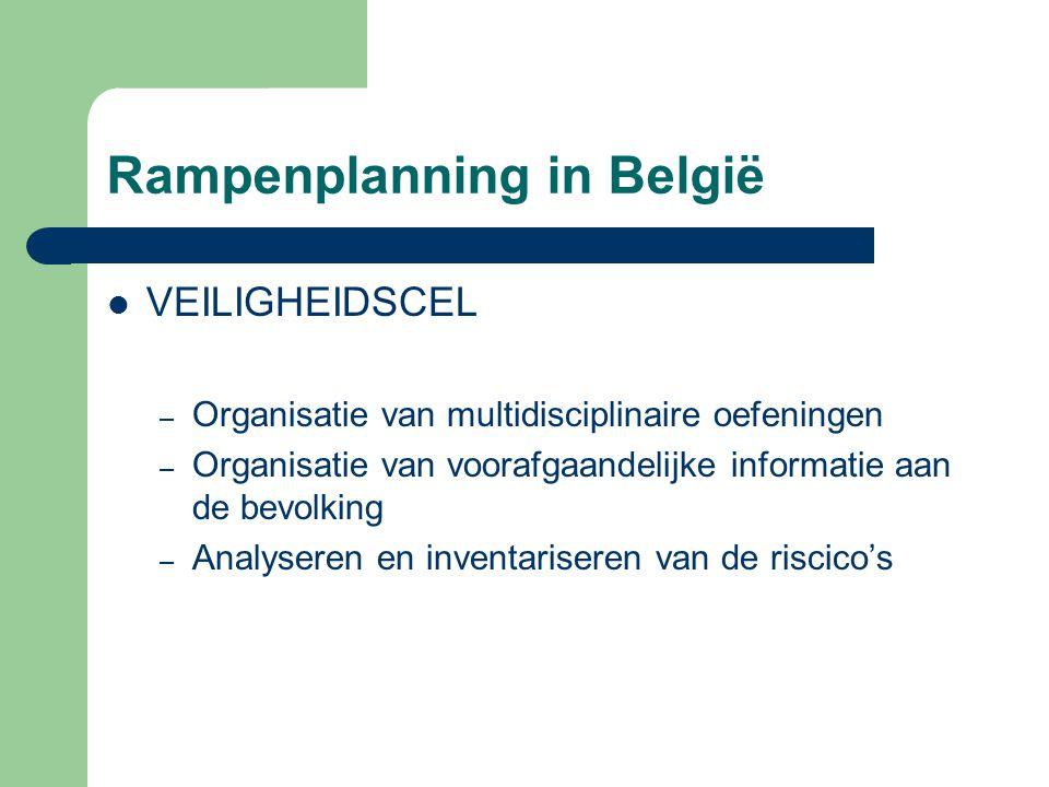 Rampenplanning in België VEILIGHEIDSCEL – Organisatie van multidisciplinaire oefeningen – Organisatie van voorafgaandelijke informatie aan de bevolkin