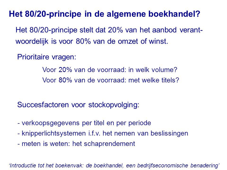 'Introductie tot het boekenvak: de boekhandel, een bedrijfseconomische benadering' Het 80/20-principe in de algemene boekhandel? Het 80/20-principe st
