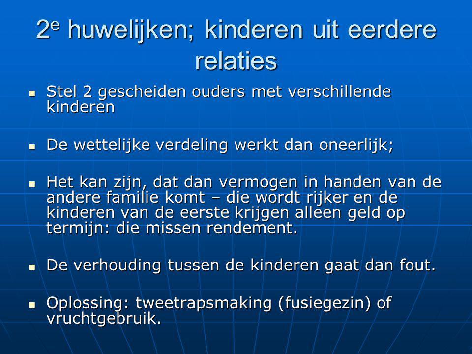 2 e huwelijken; kinderen uit eerdere relaties Stel 2 gescheiden ouders met verschillende kinderen Stel 2 gescheiden ouders met verschillende kinderen