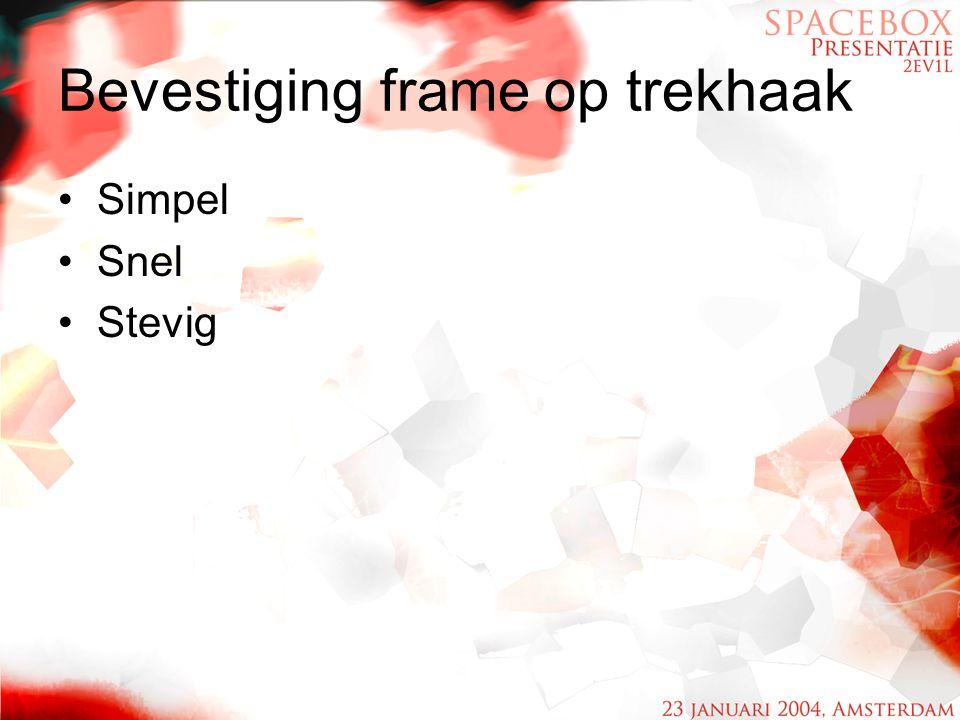 Bevestiging frame op trekhaak Simpel Snel Stevig