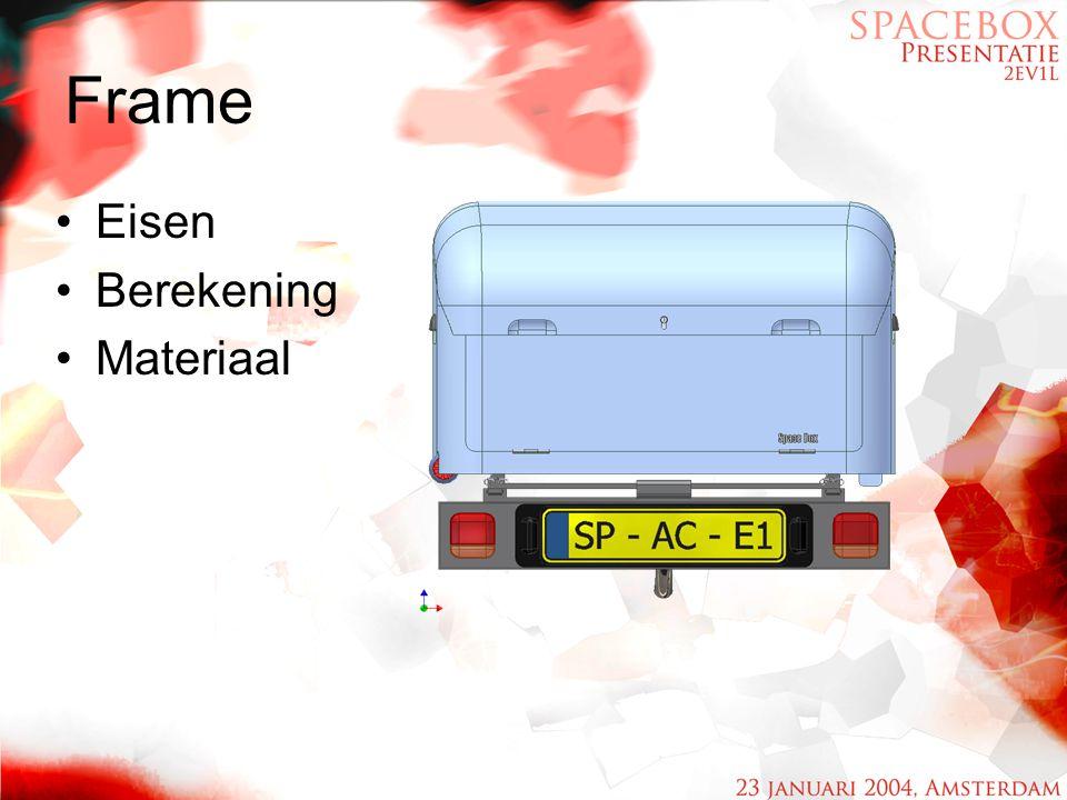 Frame Eisen Berekening Materiaal