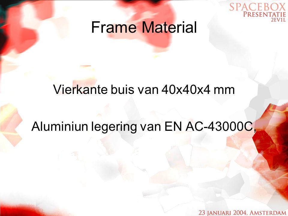 Frame Material Vierkante buis van 40x40x4 mm Aluminiun legering van EN AC-43000C,