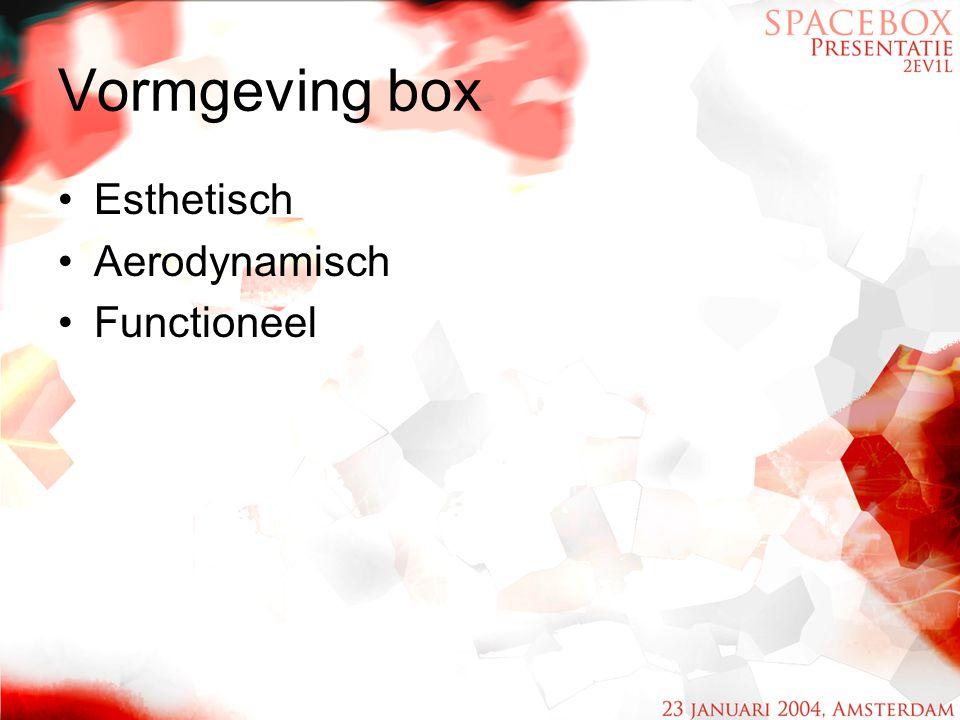 Vormgeving box Esthetisch Aerodynamisch Functioneel