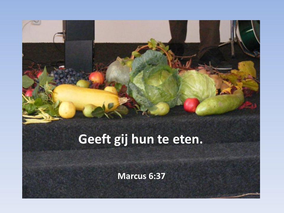Marcus 6:37 Geeft gij hun te eten.