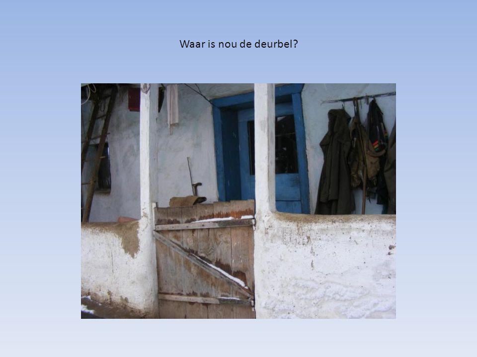 Waar is nou de deurbel?