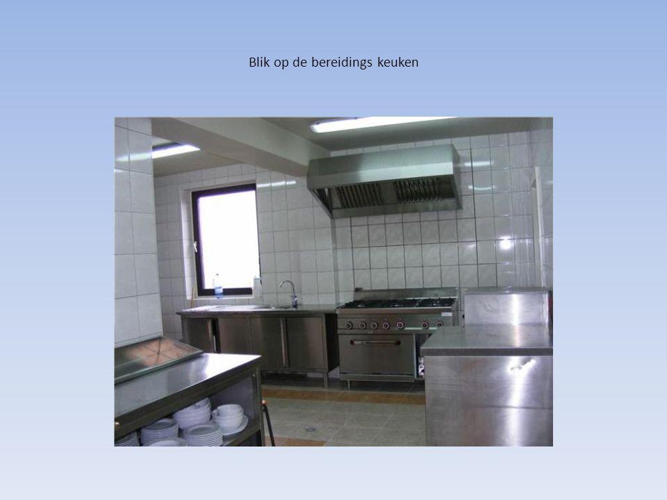 Blik op de bereidings keuken
