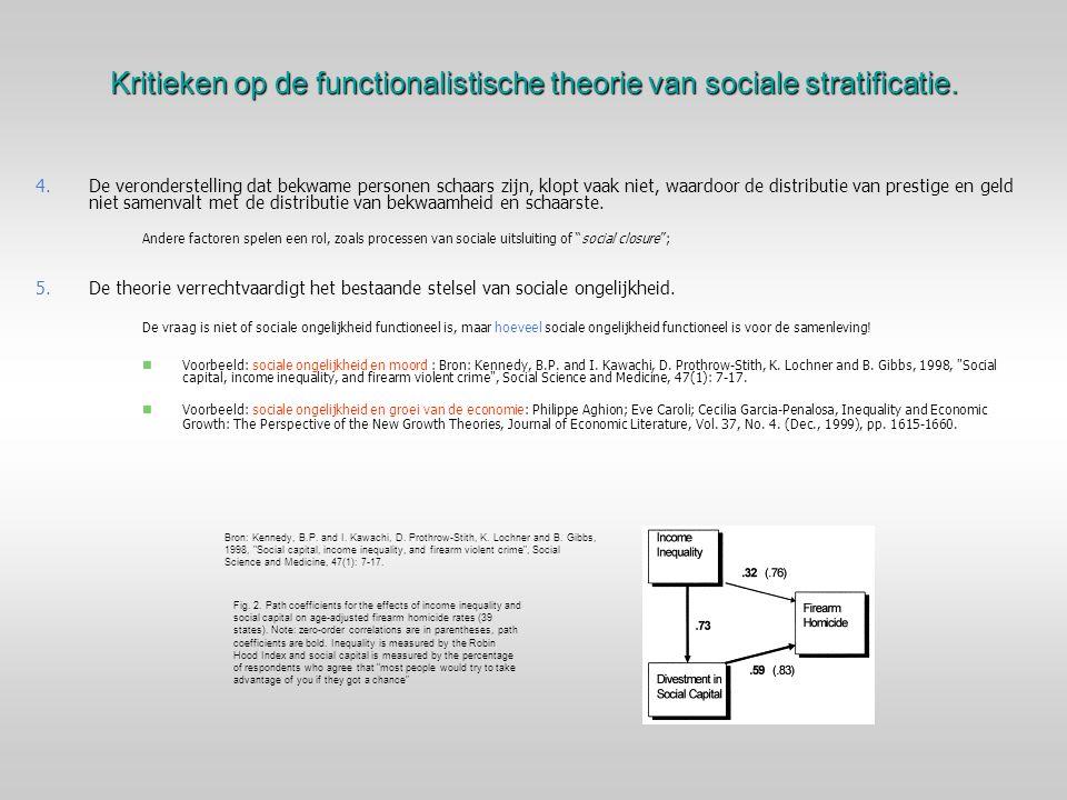 Kritieken op de functionalistische theorie van sociale stratificatie. 4. 4.De veronderstelling dat bekwame personen schaars zijn, klopt vaak niet, waa