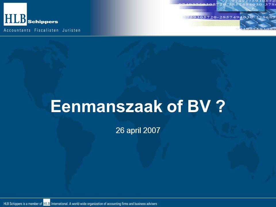 BV Continuïteit/Bedrijfsopvolging de continuïteit is gewaarborgd, de BV is een rechtspersoon het bestaan is onafhankelijk van aandeelhouders of bestuurders de BV kan zelf verkocht worden, aandelen verkoop de BV kan de onderneming verkopen