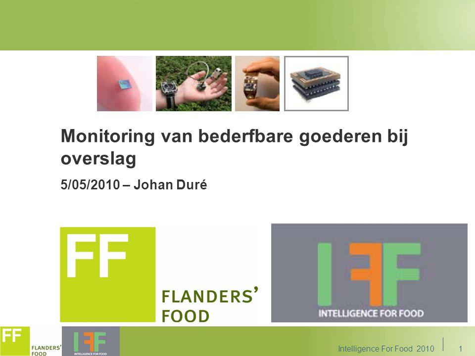 1 Monitoring van bederfbare goederen bij overslag 5/05/2010 – Johan Duré Intelligence For Food 2010