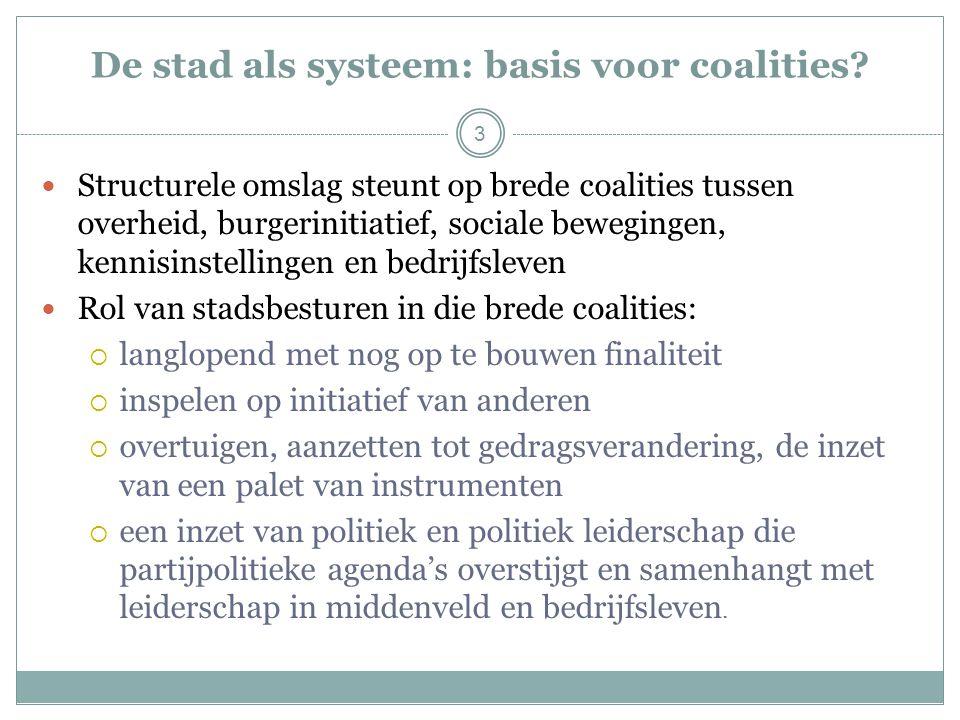 3 De stad als systeem: basis voor coalities.