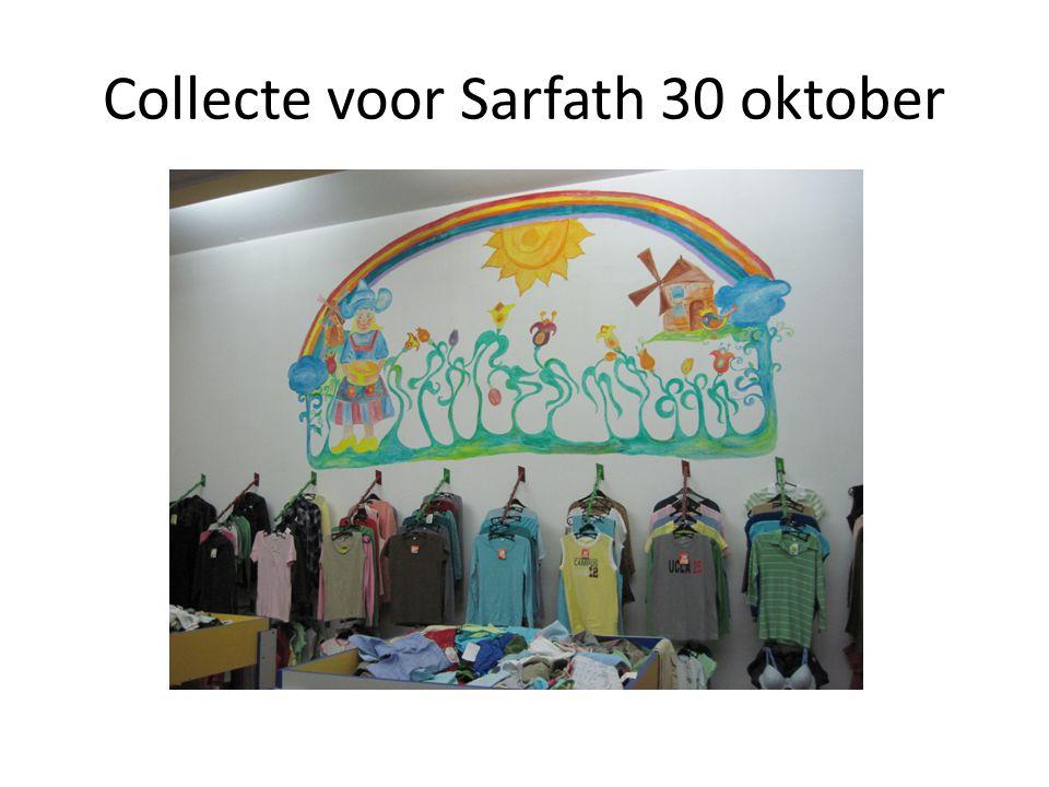 Collecte voor Sarfath 30 oktober