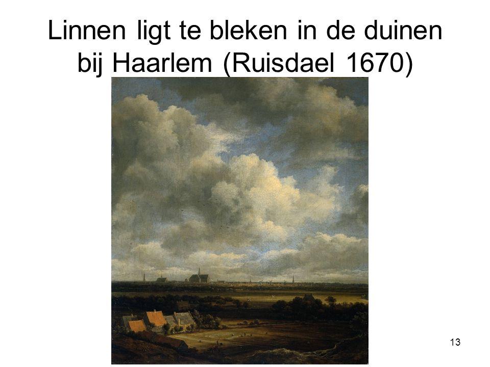Linnen ligt te bleken in de duinen bij Haarlem (Ruisdael 1670) 13