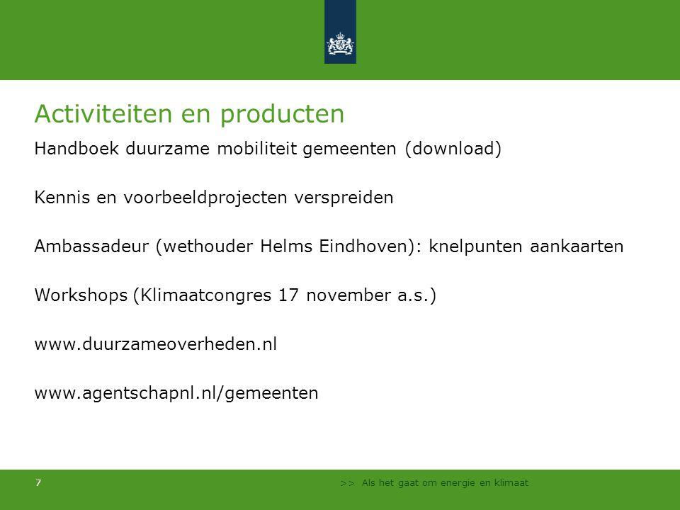 >> Als het gaat om energie en klimaat 8 Modellen en monitoring www.klimaatmonitor.databank.nl www.bereikbaarheidskaart.nl Combinatie van landelijke data (bijv.