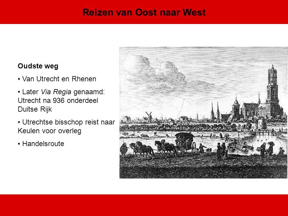 Reizen van Oost naar West Boven of beneden langs.