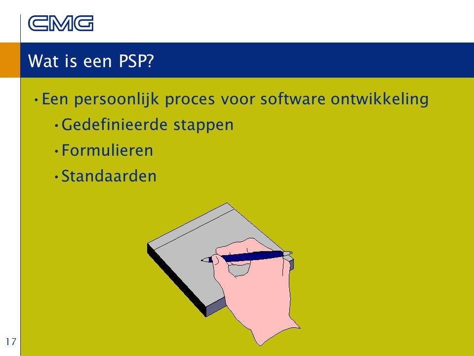 17 Wat is een PSP.