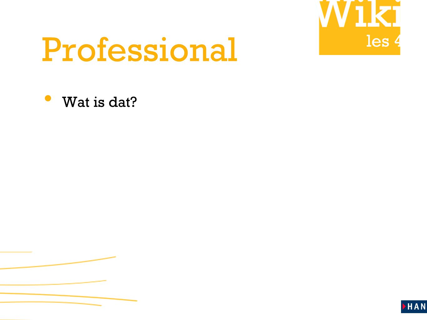 les 4 Professional Wat is dat?