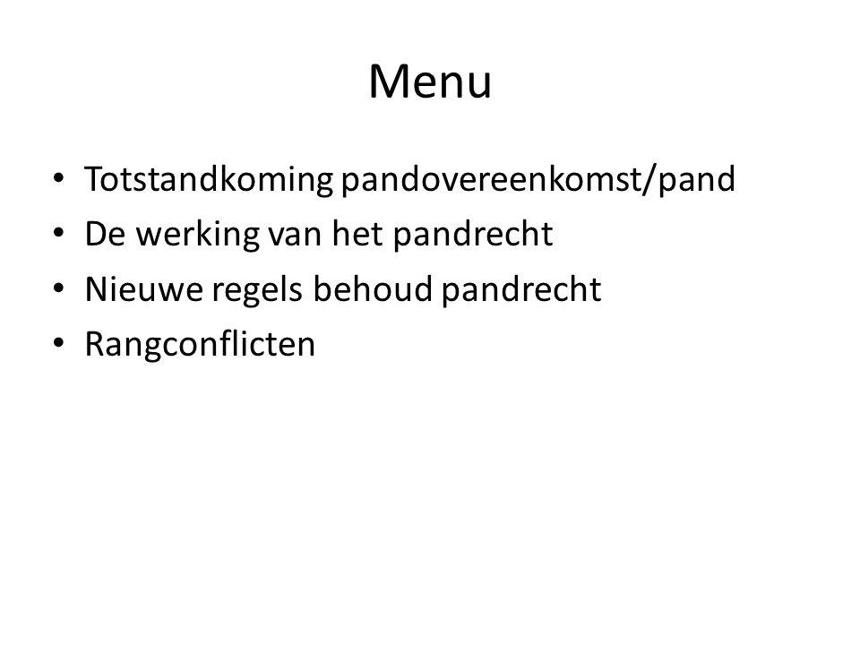 Rangconflicten (1) Beginsel: Pandrecht geeft voorrang boven alle andere schuldvorderingen m.b.t.