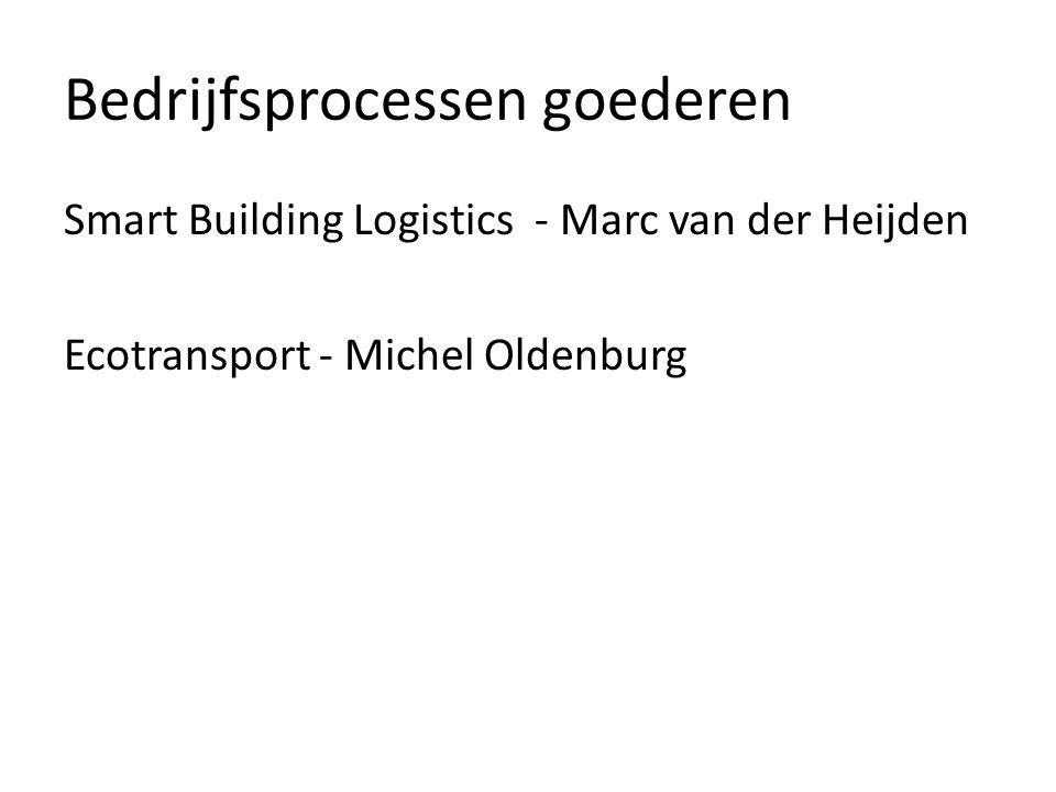 Bedrijfsprocessen goederen Smart Building Logistics - Marc van der Heijden Ecotransport - Michel Oldenburg
