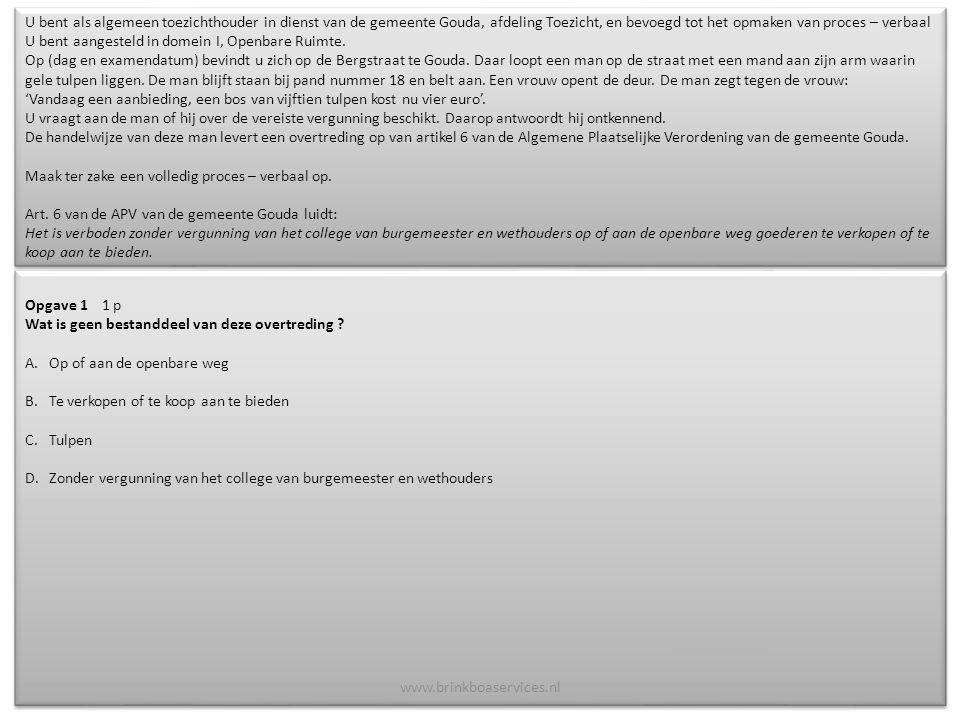 Het auteursrecht van deze presentatie berust bij de uitgever: Brink Boa Services vof, KvK nr.