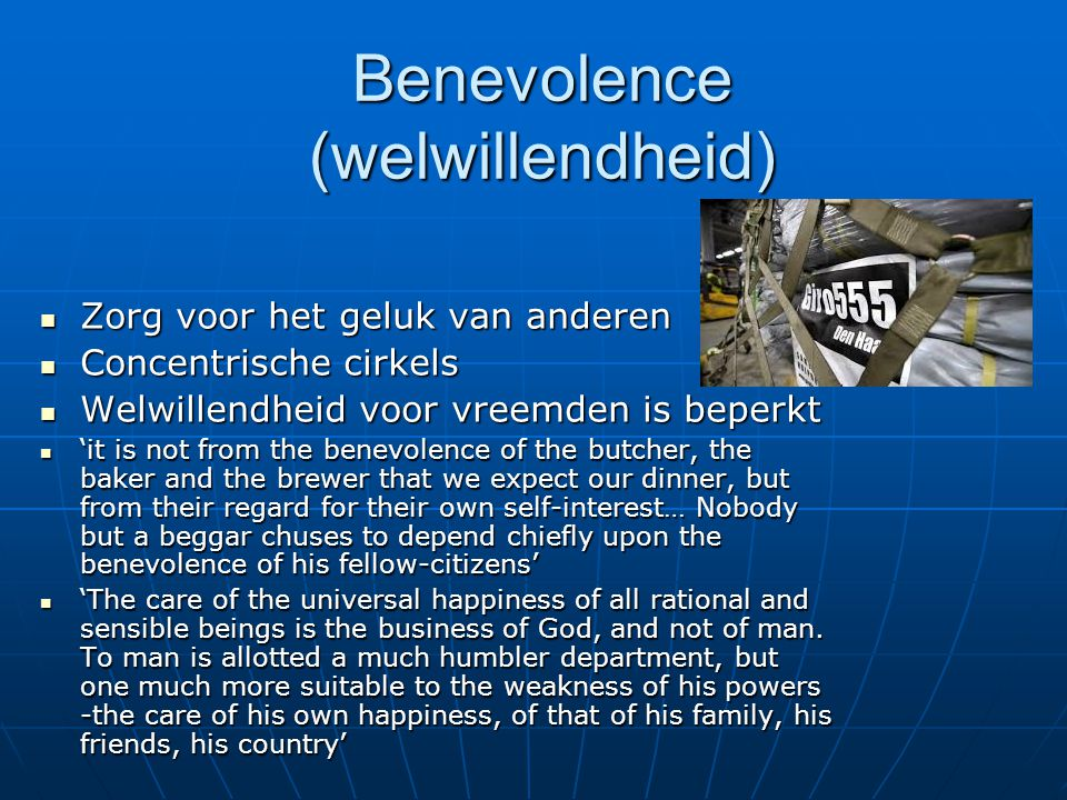 Benevolence (welwillendheid) Zorg voor het geluk van anderen Zorg voor het geluk van anderen Concentrische cirkels Concentrische cirkels Welwillendhei