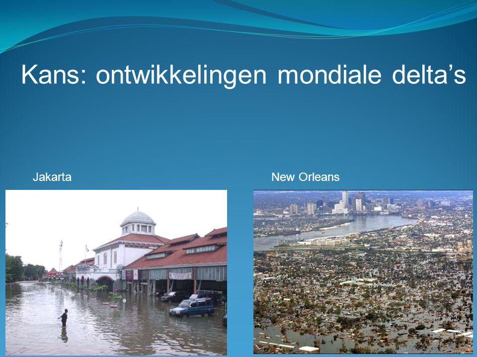 Kans: ontwikkelingen mondiale delta's Jakarta New Orleans