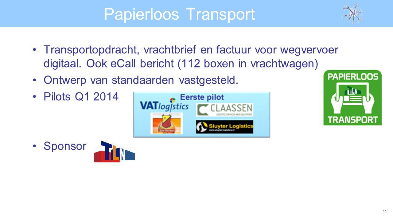 Papierloos Transport Transportopdracht, vrachtbrief en factuur voor wegvervoer digitaal.