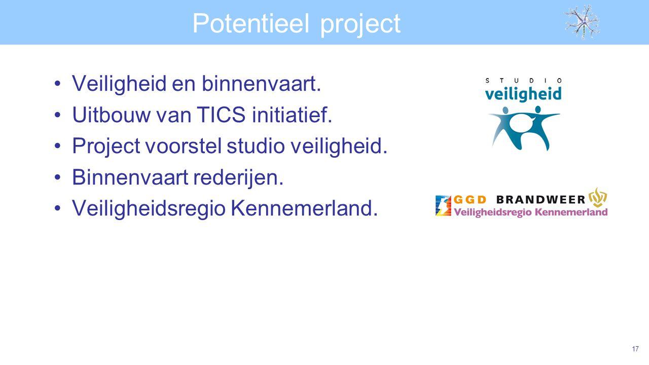 Potentieel project Veiligheid en binnenvaart.Uitbouw van TICS initiatief.