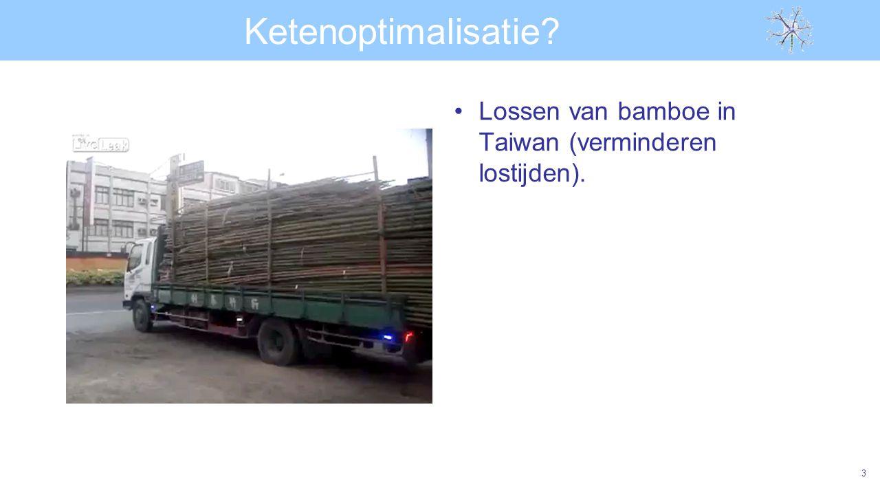 Ketenoptimalisatie? Lossen van bamboe in Taiwan (verminderen lostijden). 3