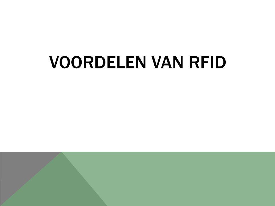 VOORDELEN VAN RFID